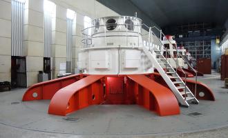 Пробный пуск ииспытания гидроагрегата Пускового комплекса №1на холостом ходу наУсть-Хантайской ГЭС