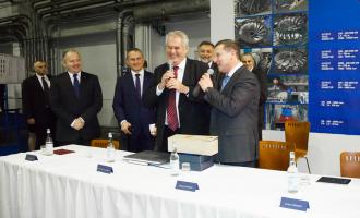 Президент Чешской Республики Милош Земан посетил дочернее предприятие ОАО «ТЯЖМАШ» ČKD Blansko Holdinga.s.