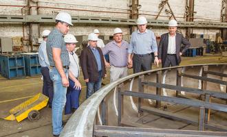 Работу завода проинспектировали руководители АО«Атомстройэкспорт»