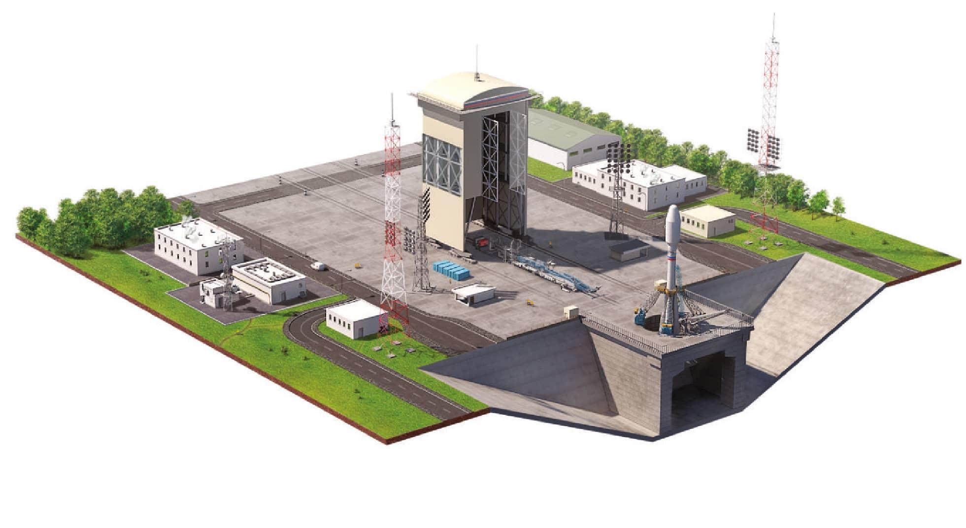Стартовый комплекс для ракет «Союз 2.1 (а, б, в)» на космодроме Восточный