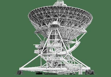 Радиотелескопы и опорно-поворотные устройства (ОПУ) радиолокационных комплексов